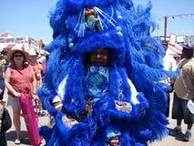 Stort lätt för New Orleans jazz & för arvfestival royaltyfria foton