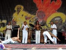 Stort lätt för New Orleans jazz & för arvfestival Arkivfoto