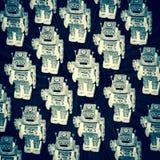 Stort lag av robotar Arkivbilder