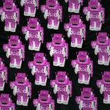 stort lag av robotar I Royaltyfria Foton