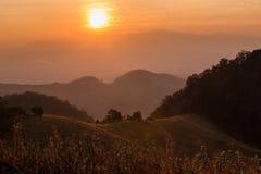 Stort landskap av Nan, n-nord av Thailand royaltyfri fotografi