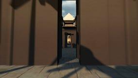 Stort lopp till och med forntida arkeologi av Egypten 4K