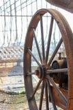 Stort metallhjul Royaltyfri Fotografi