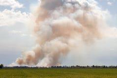 Stort moln av rök Royaltyfria Foton