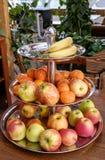 Stort mottagande med frukt Royaltyfria Foton
