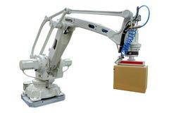 Stort robotic för bransch med att gripa armen royaltyfri fotografi