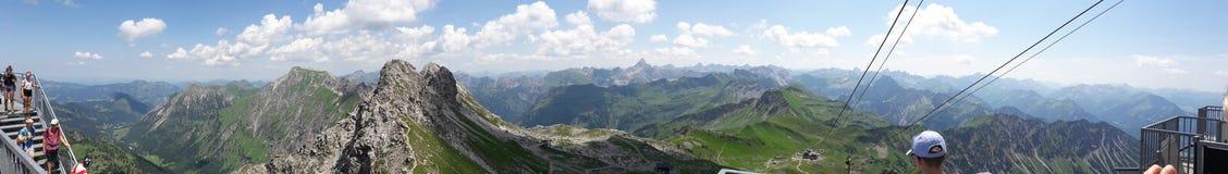 Stort se från Nebelhornen Arkivbilder