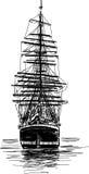 Stort seglingskepp Royaltyfri Foto