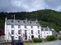 Stort skotskt hotell i Perthshire Arkivfoton
