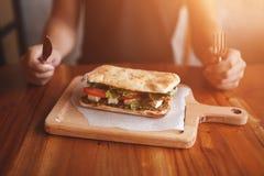 Stort smörgåsslut upp royaltyfri bild