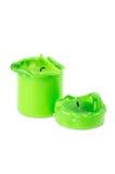 stort stearinljus gröna smältande två Royaltyfri Foto