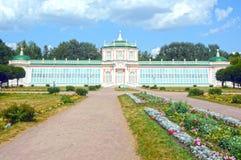 Stort stenväxthus Kuskovo moscow Royaltyfria Bilder