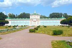 Stort stenväxthus Kuskovo moscow russia Arkivbilder