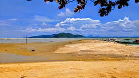 Stort strandlandskap royaltyfria foton