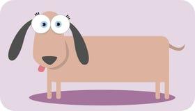 stort tecknad filmhundöga Royaltyfri Foto