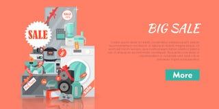 Stort toppet rengöringsdukSale baner eps 10 stock illustrationer