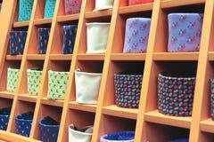 Stort val av slipsar Arkivfoton