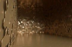 Stort valv mycket av guld- plattor Arkivbilder