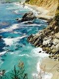 Stort vatten för natur för sol för surKalifornien kust Royaltyfri Foto