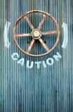 stort ventilhjul för varning Arkivfoton