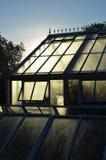 Stort viktorianskt stilträdgårdväxthus Arkivfoton