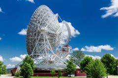 Stort vitt radioteleskop RTF-32 Royaltyfri Fotografi