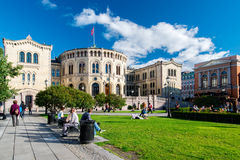 Storting of Norway on sunny day Stock Photo