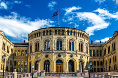 The Storting, Norwegian parliament in Oslo Stock Photos