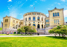 Storting Parliament supreme legislature of Norway Royalty Free Stock Photos