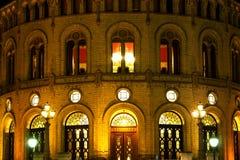 Stortinget at night Royalty Free Stock Photography