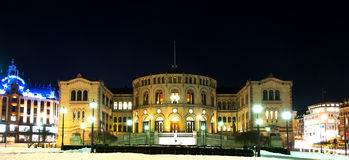 Stortinget at night Stock Photography