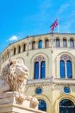 Stortinget, o assento do parlamento de Noruega, Oslo Fotografia de Stock Royalty Free