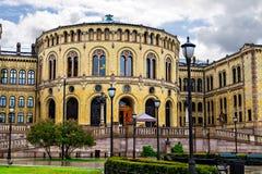 Stortinget Oslo parlamentu budynek, Norwegia Obraz Royalty Free