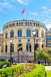 Stortinget, Parliament of Norway Oslo in beautiful spring day Royalty Free Stock Images