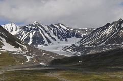 Stortoppen and Mikkaglacier in Sarek Stock Photography