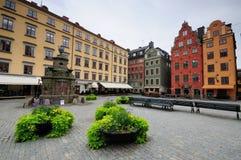 Stortorget - äldst fyrkant i Stockholm royaltyfri fotografi
