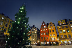 Stortorget at Chritmas time Stock Image