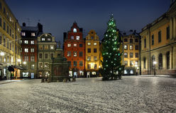 Stortorget at Chritmas time Royalty Free Stock Image