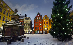Stortorget at Chritmas time Stock Photo
