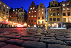 Stortorget dans Gamla stan, Stockholm Photographie stock