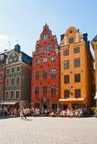 Stortorget en Estocolmo Foto de archivo libre de regalías