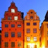 Stortorget fyrkant i Stockholm Arkivbild