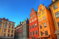 Stortorget Gamla Stan Stockholm, imagen de HDR. Imagen de archivo