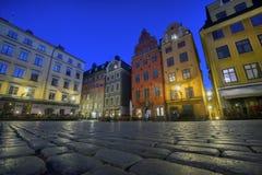 Stortorget gammal stad, Stockholm Royaltyfria Bilder