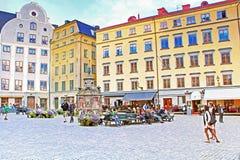 Stortorget kwadrat, Sztokholm, Szwecja Zdjęcia Royalty Free