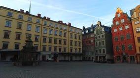 Stortorget offentlig fyrkant, Gamla Stan, Sverige lager videofilmer