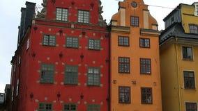 Stortorget offentlig fyrkant i Stockholm stan gamla sweden arkivfilmer
