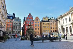 Stortorget in the Old Town Royalty Free Stock Photo