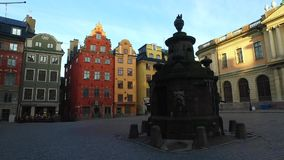 Stortorget Public Square, Gamla Stan, Sweden stock video footage