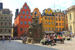 Stortorget -  small public square in Stockholm, Sweden Royalty Free Stock Photos